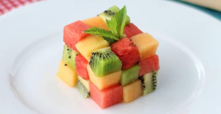 dessert à base de fruits frais