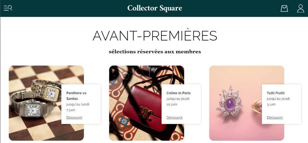 Collector Square mode occasion de luxe