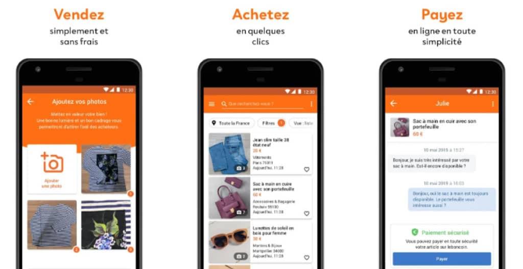 leboncoin : achat et vente de vêtements sur l'appli
